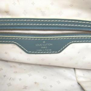 Louis Vuitton Blue Suhali Leather Lockit MM Satchel Bag 863033