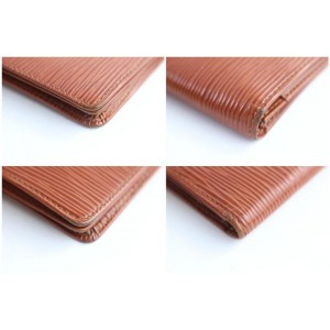 Louis Vuitton Brown Epi Long Bifold Wallet 9LR0618