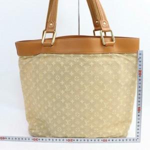 Louis Vuitton Monogram Mini Lin Beige Lucille GM Tote 859019