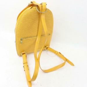 Louis Vuitton Yellow Epi Leather Castillian Mabillon Backpack 859659