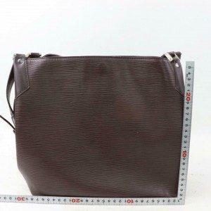 Louis Vuitton Moka Brown Epi Mandara MM 870580