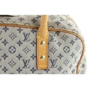 Louis Vuitton Navy Monogram Mini Lin Marie Boston Speedy Bowler Bag 617lvs316