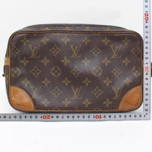 Louis Vuitton Marly Dragonne Marly Monogram Gm 869497 Brown Coated Canvas Clutch