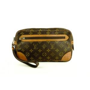 Louis Vuitton Marly Dragonne Monogram Pochette Clutch Bag 758lvs330