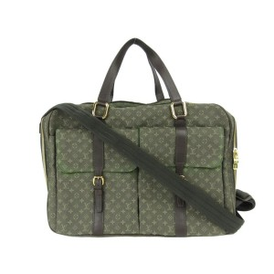 Louis Vuitton Khaki Mini Lin Claudine Messenger 2way Messenger 860589