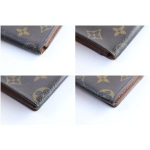Louis Vuitton Monogram Card Case 14lr0313 Brown Coated Canvas Clutch