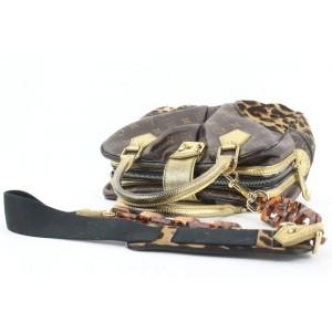 Louis Vuitton Limited Edition Monogram Leopard Adele Chain Boston 862814