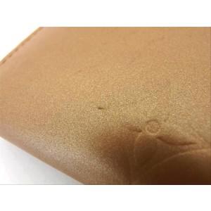 Louis Vuitton Mat Vernis Sarah Bifold Long Wallet Gold champagne 218871