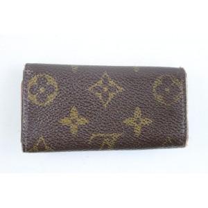 Louis Vuitton Monogram Multicles 4 Key Holder 5lr1113 Brown Coated Canvas Clutch