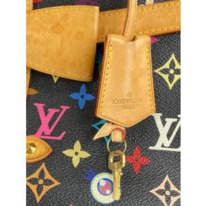 Louis Vuitton Black Monogram Murakami Multicolor Eye Love You Sac Retro GM 861884