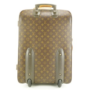 Louis Vuitton Carry-On Monogram Pegase 55 Rolling Luggage Trolley Suitcase 586lvs312