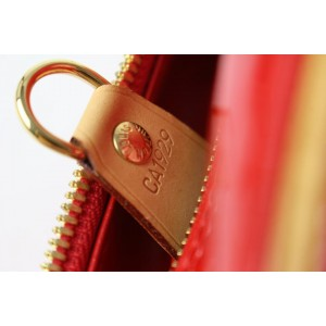 Louis Vuitton Red Monogram Vernis Sutton Bag 6LE857