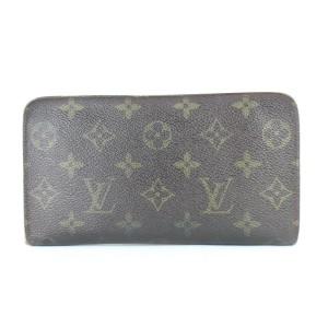 Louis Vuitton Long Wallet Monogram Zippy 3lj0111 Brown Coated Canvas Wristlet