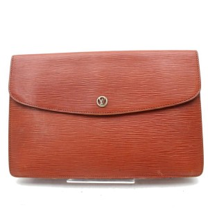 Louis Vuitton Brown Epi Montaigne Clutch 867317