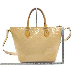 Louis Vuitton Beige Monogram Vernis Montebello MM 2way Tote Bag with Strap 863048