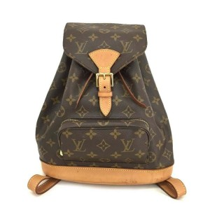 Louis Vuitton Monogram Montsouris MM Backpack Bookbag 860284