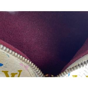 Louis Vuitton White Multicolor Monogram Blanc Berlingo Coin Case Key Case 862134