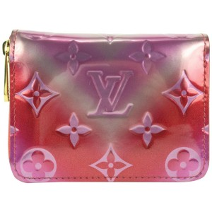Louis Vuitton Limited Monogram Vernis Valentine Metallic Zippy Coin Purse 849lvs48