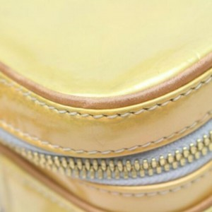 Louis Vuitton Monogram Vernis Murray Mini Backpack Yellow-Green