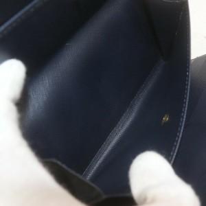 Louis Vuitton Navy Monogram Mini Lin Sarah Long Wallet Portefeuille Tresor 862576