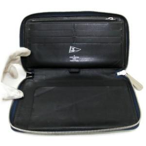 Louis Vuitton LV Cup Long Zippy Organizer Wallet Navy Blue Leather Gaston V 872734
