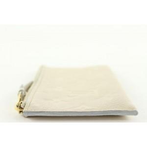 Louis Vuitton Neige Ivory Monogram Empreinte Leather Zip Pouch 89lvs427