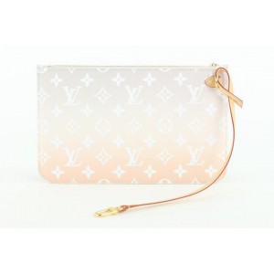 Louis Vuitton Peach Mist Monogram By the Pool Neverfull MM Tote with Pouch 147lvs430