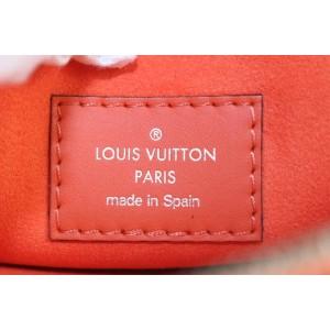 Louis Vuitton Manadarin Orange Leather Neverfull Pochette MM/GM Wristlet 18lvs121