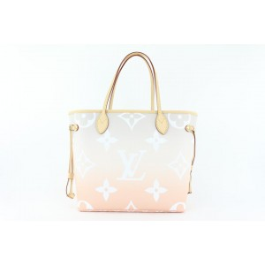Louis Vuitton Peach Mist Monogram By the Pool Neverfull MM Tote with Pouch 29lvs422