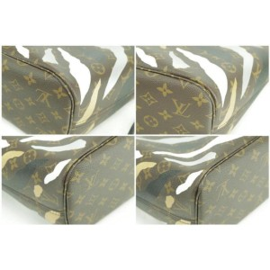 Louis Vuitton Neverfull 871980 Lvxlol League Of Legends Mm Brown Coated Canvas Tote