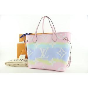 Louis Vuitton Monogram Escale Pink Tye Dye Neverfull MM Tote Bag 956lvs416