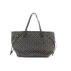 Louis Vuitton Ebene Monogram Mini Lin Idylle Neverfull MM Tote bag 720lvs323