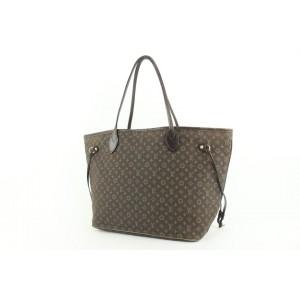 Louis Vuitton Ebene Monogram Mini Lin Idylle Neverfull MM Tote Bag 926lvs415