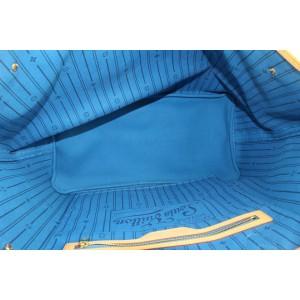 Louis Vuitton Large Blue Monogram Mon Stripe Neverfull GM Tote Bag