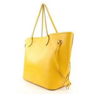 Louis Vuitton Mimosa Yellow Epi Leather Neverfull MM Tote Bag 860858