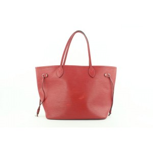 Louis Vuitton Red Epi Leather Neverfull MM Tote bag 285lvs512