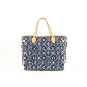 Louis Vuitton Blue Monogram Since 1854 Neverfull MM Tote bag 322lvs223