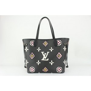 Louis Vuitton Black Monogram Wild at Heart Neverfull MM Tote Bag 186lv83