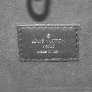 Louis Vuitton Black Epi Leather Noir Neverfull MM Tote Bag with Pouch  861996