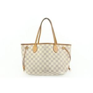 Louis Vuitton Small Damier Azur Neverfull PM Tote Bag 927lvs415