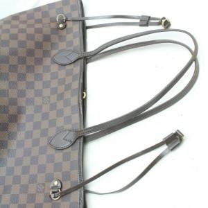Louis Vuitton Damier Ebene Neverfull MM Tote 860645