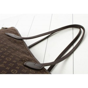 Louis Vuitton Ebene Monogram Idylle Mini Lin Neverfull Mm Fusain 860716
