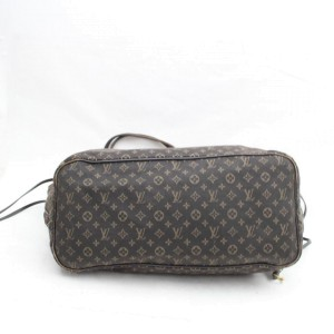 Louis Vuitton Ebene Monogram Mini Lin Neverfull MM Tote 857663