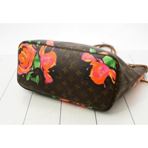 Louis Vuitton Limited Rare Stephen Sprouse Roses Neverfull MM Tote 860888