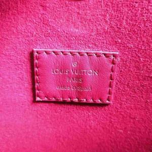 Louis Vuitton Fuchsia Epi Neverfull PM with Pouch Tote 860287