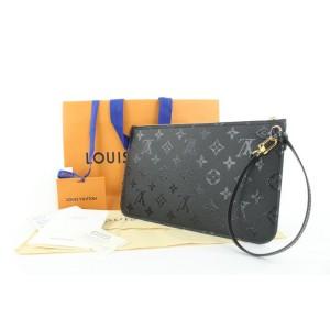 Louis Vuitton LVxUF Urs Fischer Black Monogram Leather Neverfull Pochette Bag 2lvs16