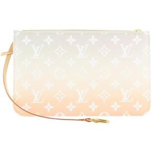 Louis Vuitton Brume Peach Mist Monogram By the Pool Neverfull Pochette Bag 27lvs422