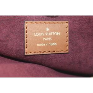 Louis Vuitton Burgundy Red Monogram Since 1854 Neverfull Pochette Wristlet 321lvs223