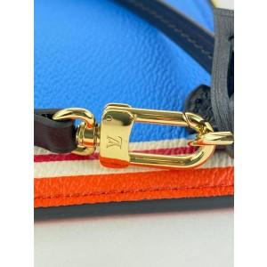 Louis Vuitton Blue Poker Rare Game On Neverfull Pochette Wristlet Clutch 861861