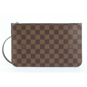 Louis Vuitton Damier Ebene Neverfull Pochette MM or GM Wristlet bag